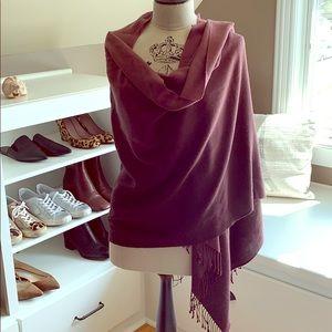 PASHMINA - silk/cashmere - burgundy ombré